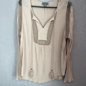 Joseph A. Crinkle blouse size large